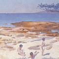 Beach At Cabasson by Henri-Edmond Cross