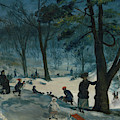 Central Park, Winter by William Glackens