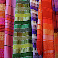 Colorful Fabrics In The Medina Market  by Steve Estvanik