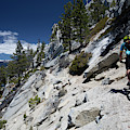 Cyclist On Mountain Road, Lake Tahoe by Panoramic Images