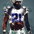 Dallas Cowboys.ezekiel Elliott. by Nadezhda Zhuravleva