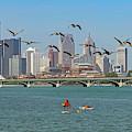 Detroit River by Jim West