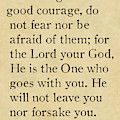 Deuteronomy 31 6. Inspirational Quotes Wall Art Collection by Mark Lawrence