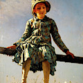Dragonfly, Painter's Daughter Portrait by Ilya Repin