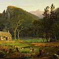 Eagle Cliff, Franconia Notch, New Hampshire by Jasper Francis Cropsey