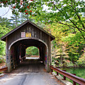 Fall Colors Over The Babs Covered Bridge by Jeff Folger