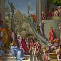 Joseph With Jacob In Egypt  by Pontormo