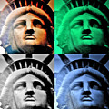 Lady Liberty In Quad Colors by Rob Hans