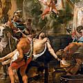 Martyrdom Of Saint John The Evangelist  by Charles le Brun