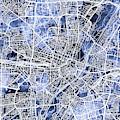 Munich Germany City Map by Michael Tompsett