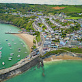 New Quay, Wales From The Air by Keith Morris