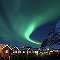 Northern Lights - Aurora Borealis Over by Relaxfoto.de