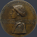 Pisanello  by Portrait medal of Domenico Novello Malatesta