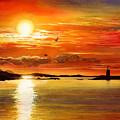 Sunset Lake by Hailey E Herrera