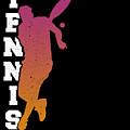 Tennis Player Ball Racket Serve Game I Love Tennis by TeeQueen2603