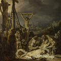 The Lamentation Over The Dead Christ  by Rembrandt