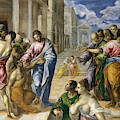 The Miracle Of Christ Healing The Blind  by El Greco