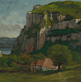 The Rock Of Hautepierre by Gustave Courbet