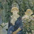 Woman In A Garden by Berthe Morisot