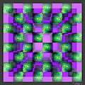 2d Celluloid Crystal Stack 8 by Walter Neal