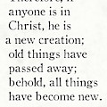 2 Corinthians 5 17 - Inspirational Quotes Wall Art Collection by Mark Lawrence
