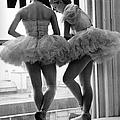 Ballerinas Standing On Window Sill In by Alfred Eisenstaedt