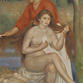 Bather And Maid by Pierre Auguste Renoir