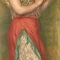 Dancing Girl With Tambourine  by Pierre Auguste Renoir