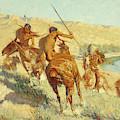 Episode Of The Buffalo Gun by Frederic Remington