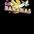 Go Bananas Good Old Times Born In The 90s Retro Rustic by Cameron Fulton