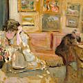 Jos And Lucie Hessel In The Small Salon  Rue De Rivoli  by Edouard Vuillard