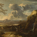Landscape With Tobias And The Angel  by Salvator Rosa