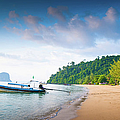 Long Tail Boat Sits In The Beautiful by Primeimages