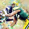 Reggie White. Green Bay Packers. by Nadezhda Zhuravleva