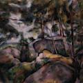 Rocks In The Forest  by Paul CEzanne
