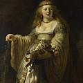 Saskia Van Uylenburgh In Arcadian Costume  by Rembrandt