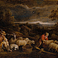 Shepherds And Sheep  by David Teniers the Younger