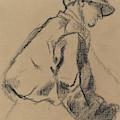 Study Of A Jockey by Edgar Degas