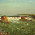The Falls Of Saint Anthony by Albert Bierstadt