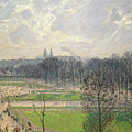 The Garden Of The Tuileries On A Winter Afternoon  by Camille Pissarro