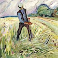 The Haymaker  by Edvard Munch