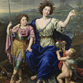 The Marquise De Seignelay And Two Of Her Sons  by Pierre Mignard