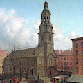 The North Dutch Church  Fulton And William Streets  New York  by Edward Lamson Henry
