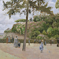 The Public Garden At Pontoise by Camille Pissarro