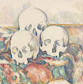 The Three Skulls by Paul Cezanne