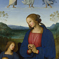 The Virgin And Child With An Angel  by Pietro Perugino