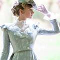 Victorian Woman In The Garden by Lee Avison
