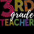 3rd Grade Teacher Light by J P