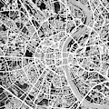 Cologne Germany City Map by Michael Tompsett