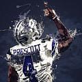 Dallas Cowboys.dak Prescott. by Nadezhda Zhuravleva